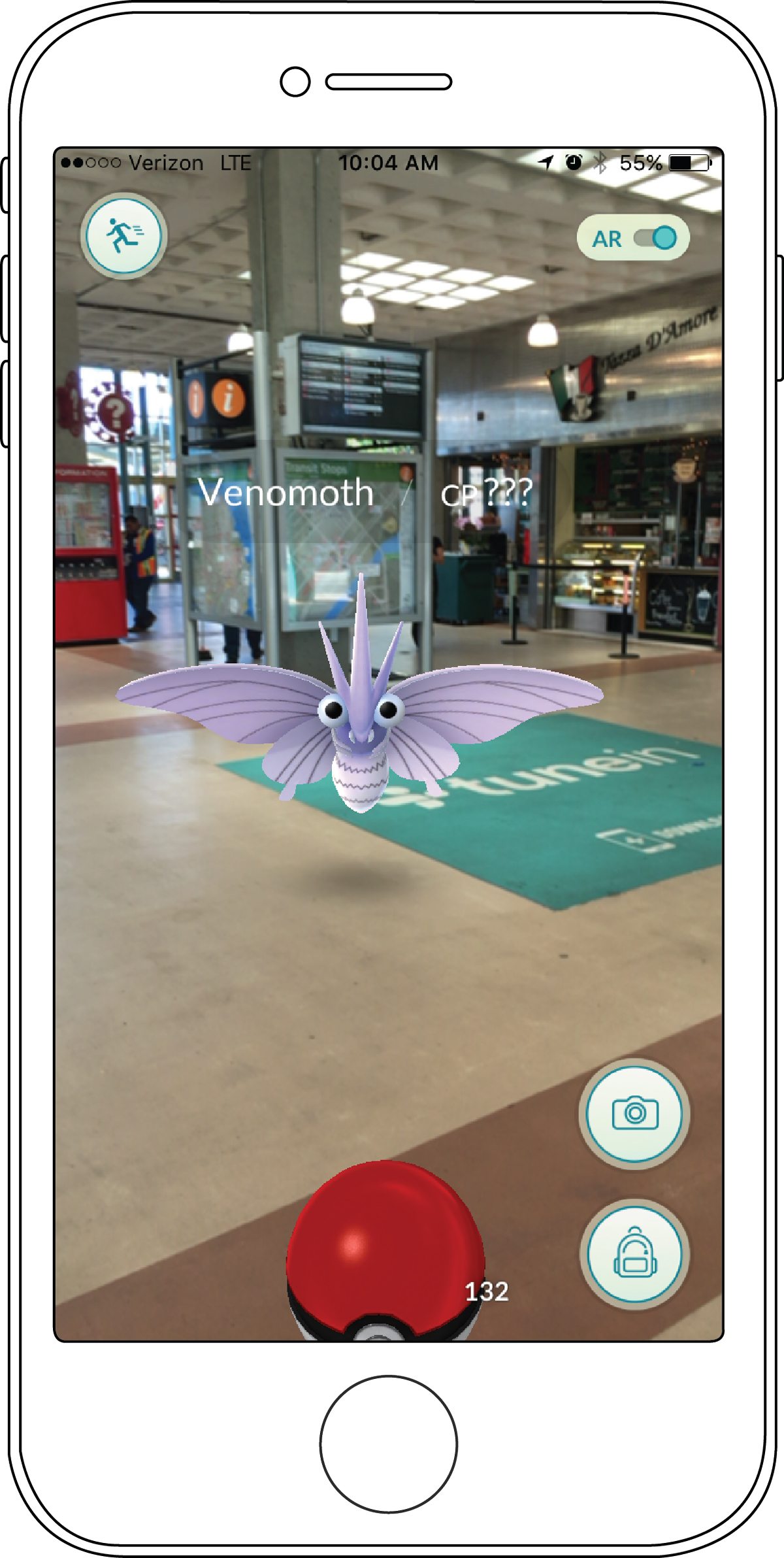 With the Pokémon Go game, you can use your smartphone to find and capture Pokémon creatures.