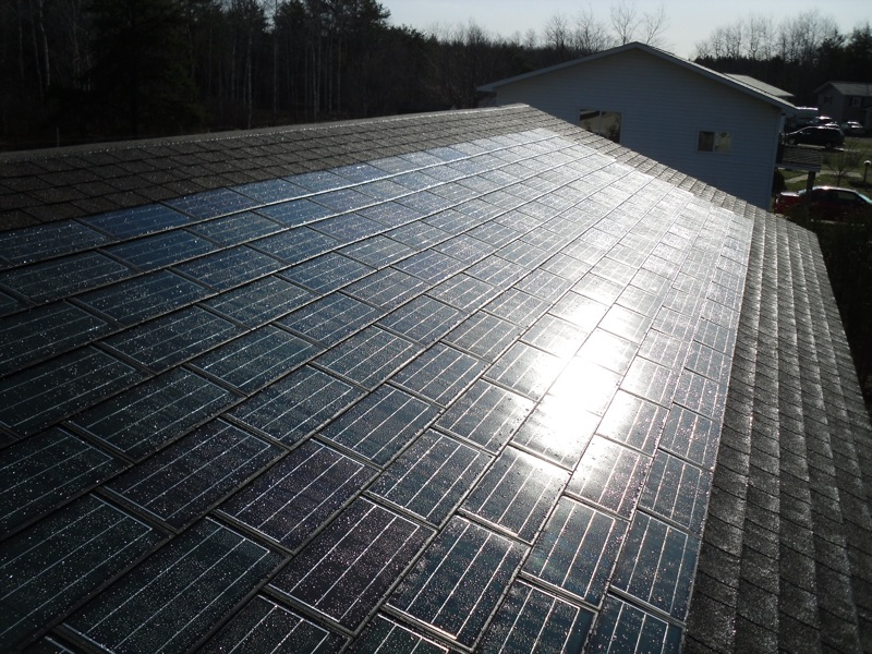 Dow's Powerhouse solar shingles.