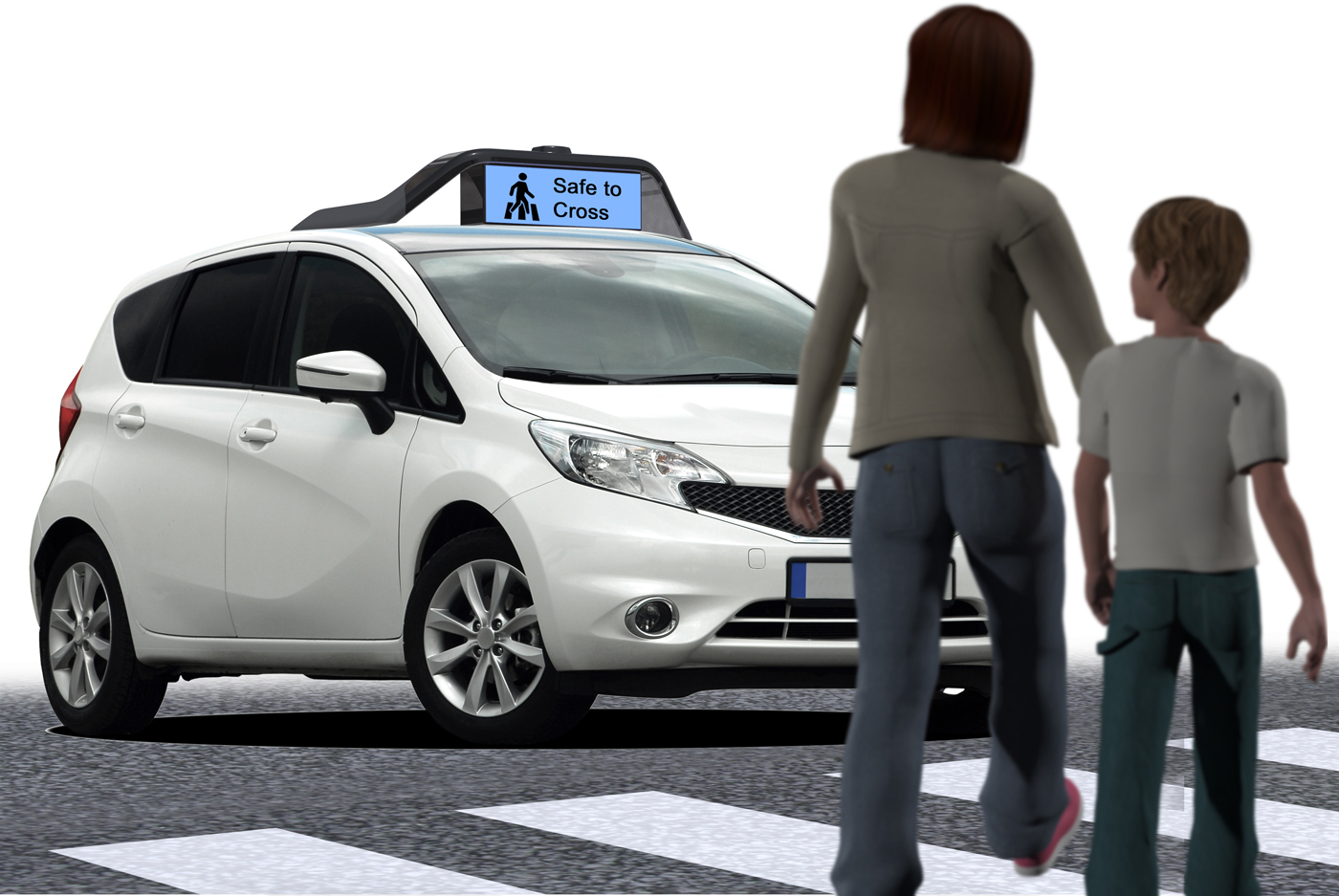 An illustration shows a car fitted with Drive.ai hardware.