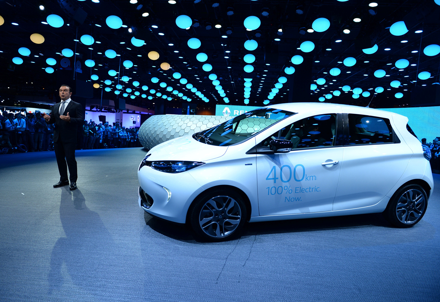 Renault's Zoe boasts a range of nearly 250 miles.