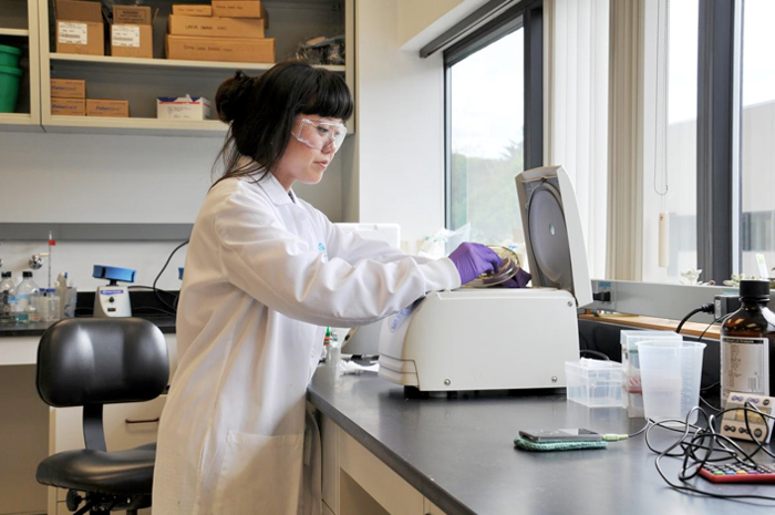 A Berg researcher uses a centrifuge to process samples in the company's lab. Berg has developed an artificial-intelligence platform to rapidly screen patient tissue samples for potential drug targets.