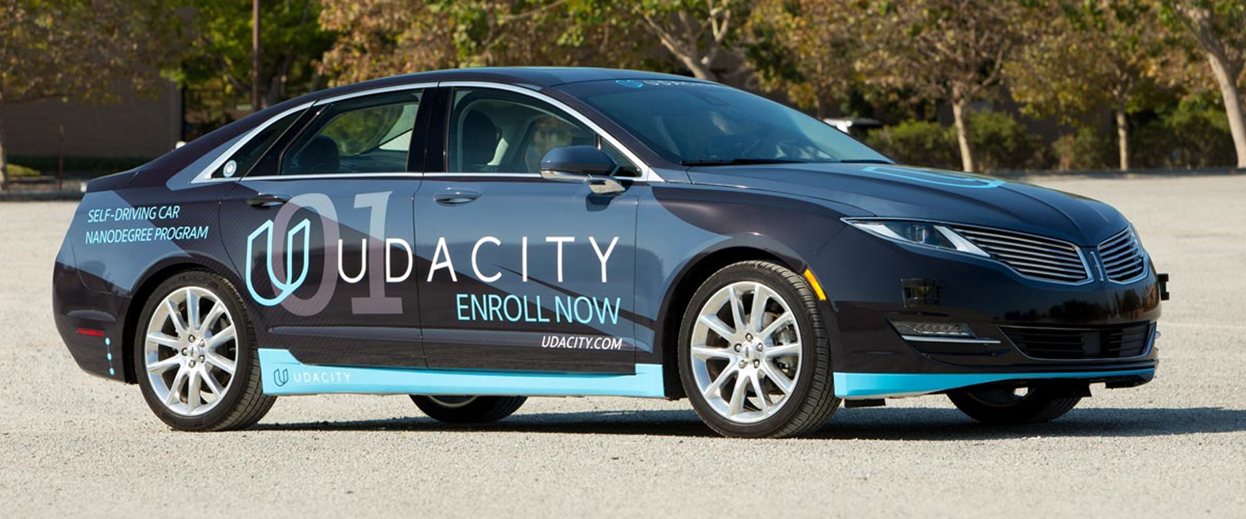 Udacity modified this Lincoln sedan to drive itself.