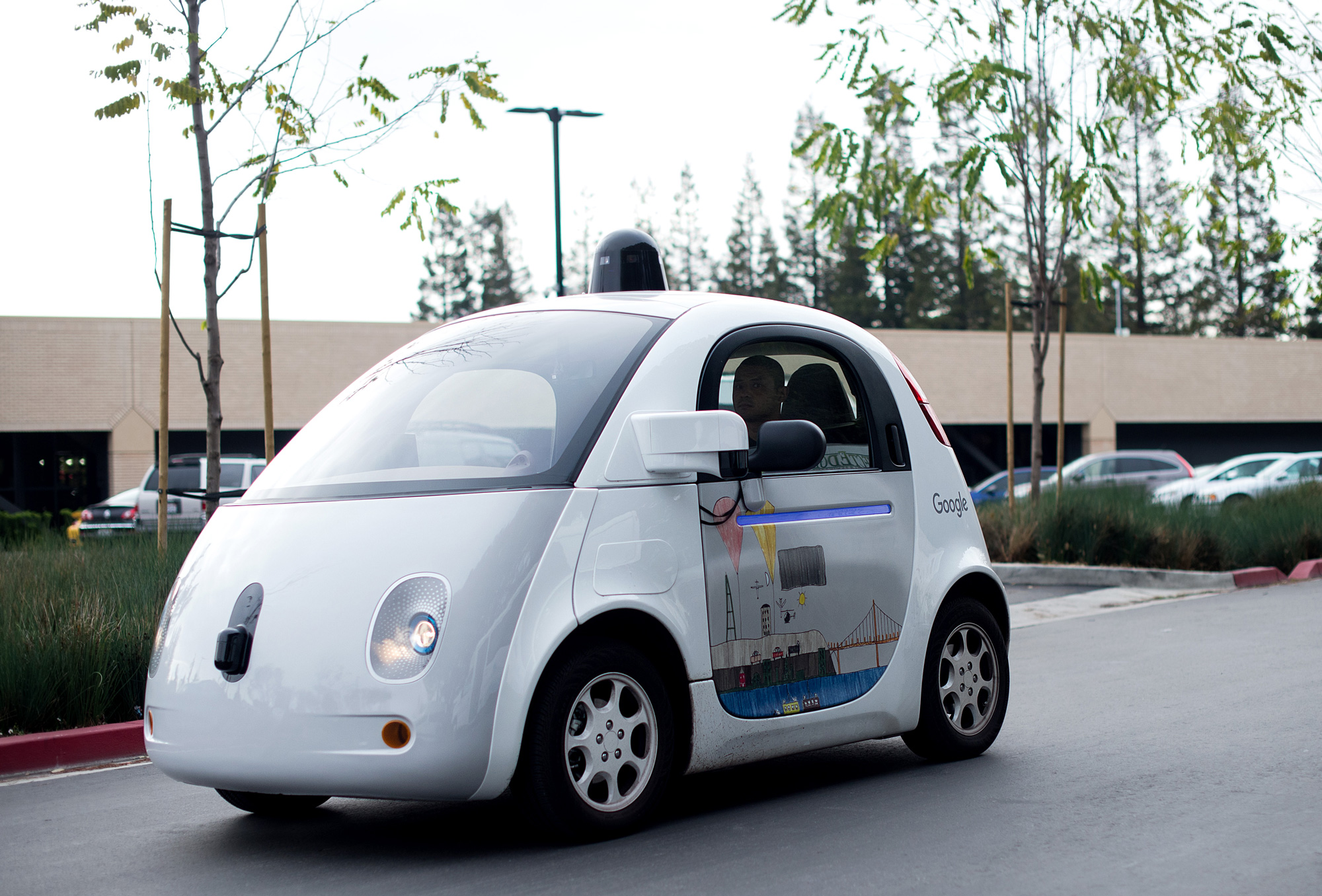 The bubble may have burst for Google's cute vision of the future of cars.