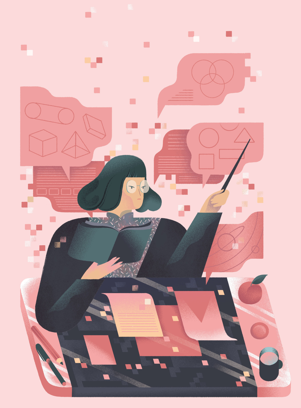 "<b><a href=""https://www.technologyreview.com/s/600943/wechat-is-extending-chinas-school-days-well-into-the-night/"">WeChat Is Extending China's School Days Well into the Night</a></b> <br> Illustration by Marina Muun"
