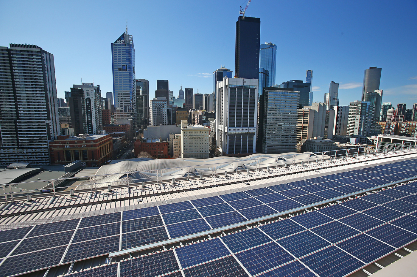 Rooftop solar panels, such as these in Melbourne, currently account for around 16 percent of renewable electricity generation in Australia.