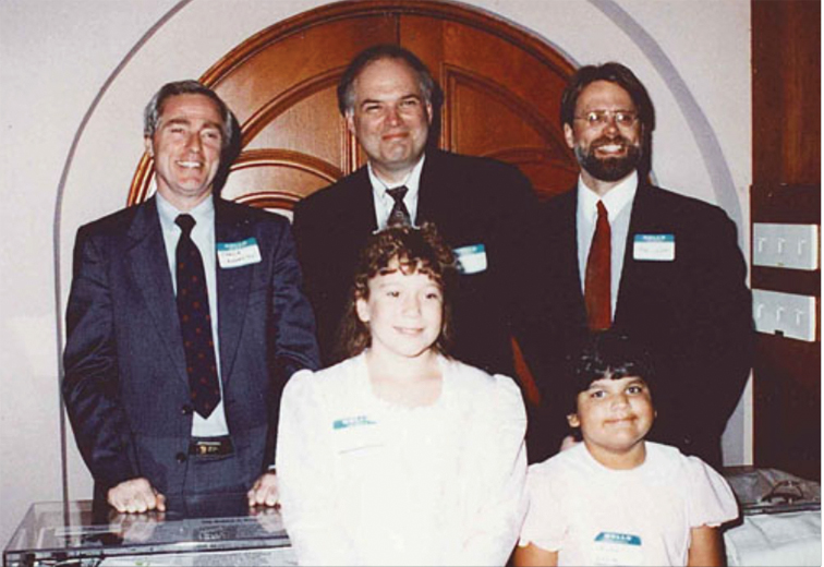 1990 A four-year-old girl (pictured at lower right in 1992) is treated for SCID, a genetic disease that would have left her defenseless against infections. But other children with the disease will later develop leukemia from a different gene therapy.