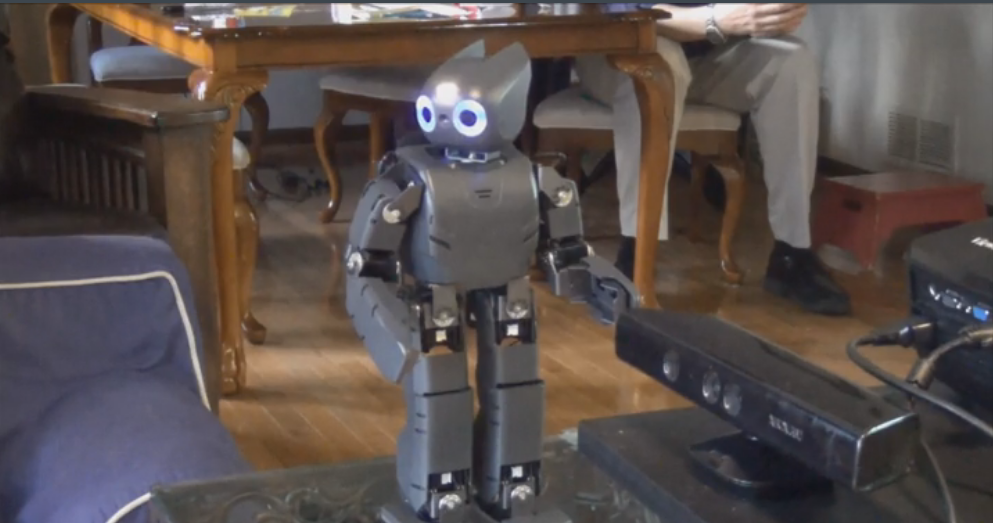 This robot, called Darwin, helps people with their physical therapy.