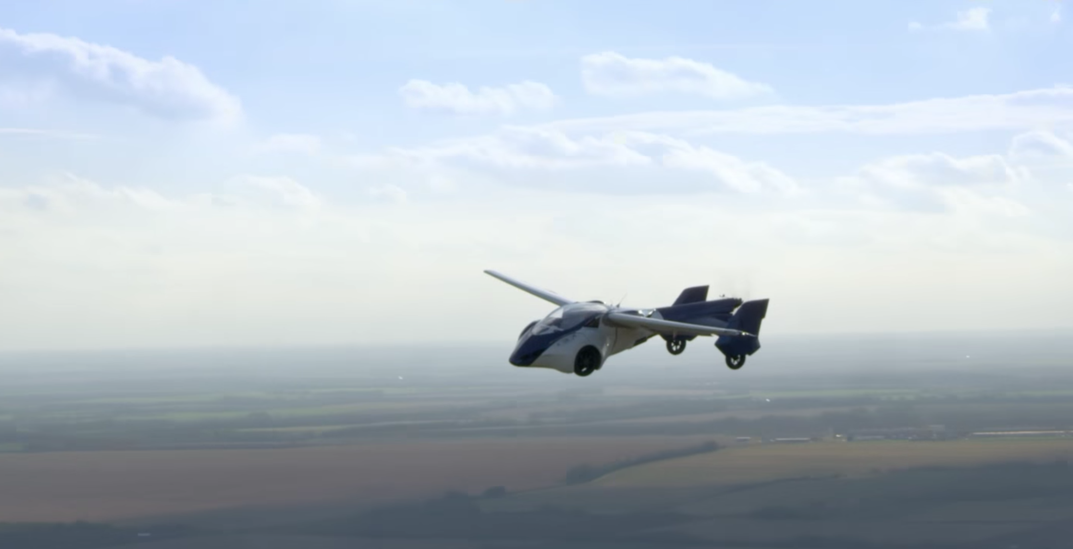 AeroMobil's flying car, actually flying.