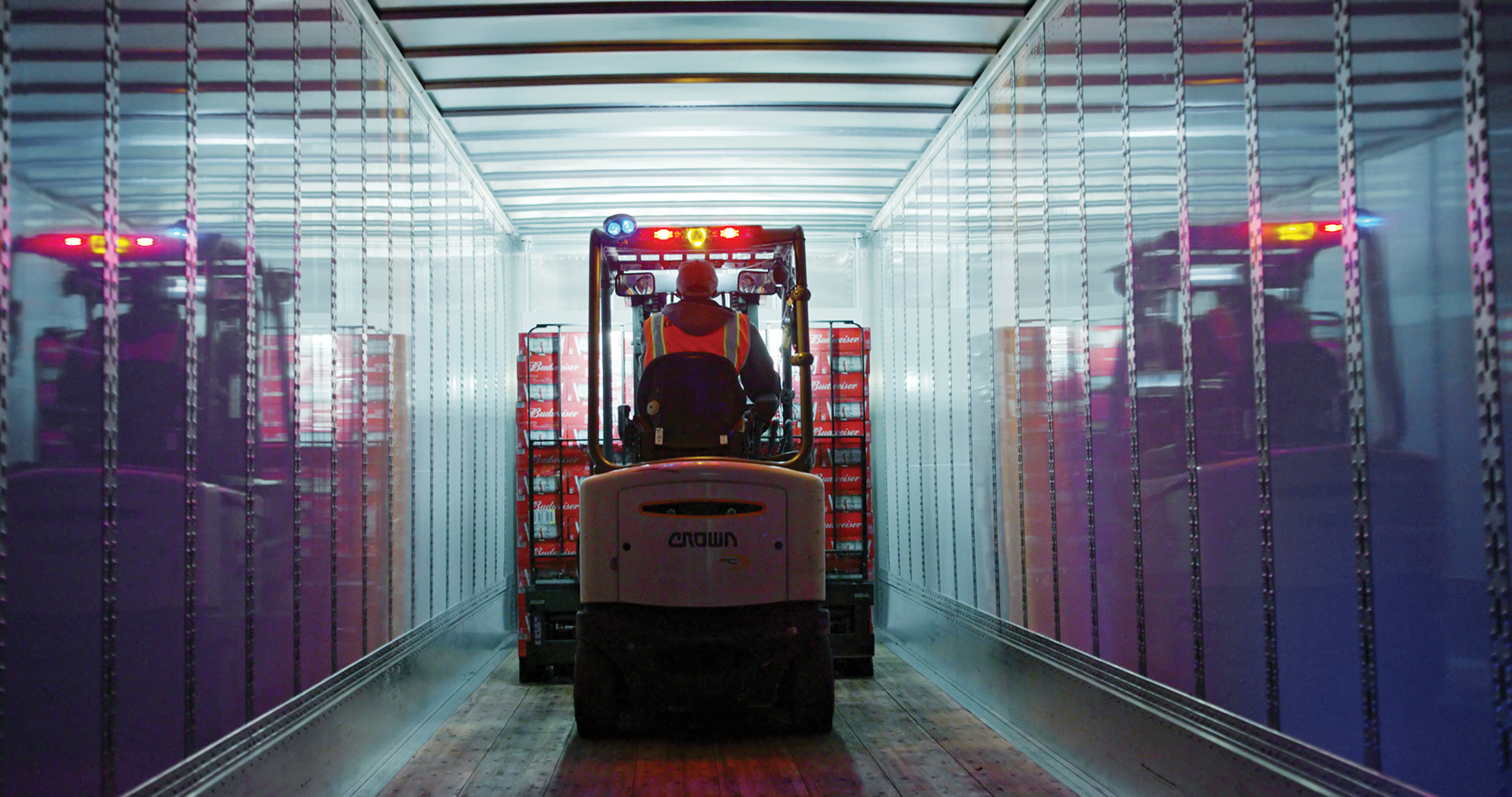 A shipment of Budweiser was loaded onto an autonomous Otto truck last year.