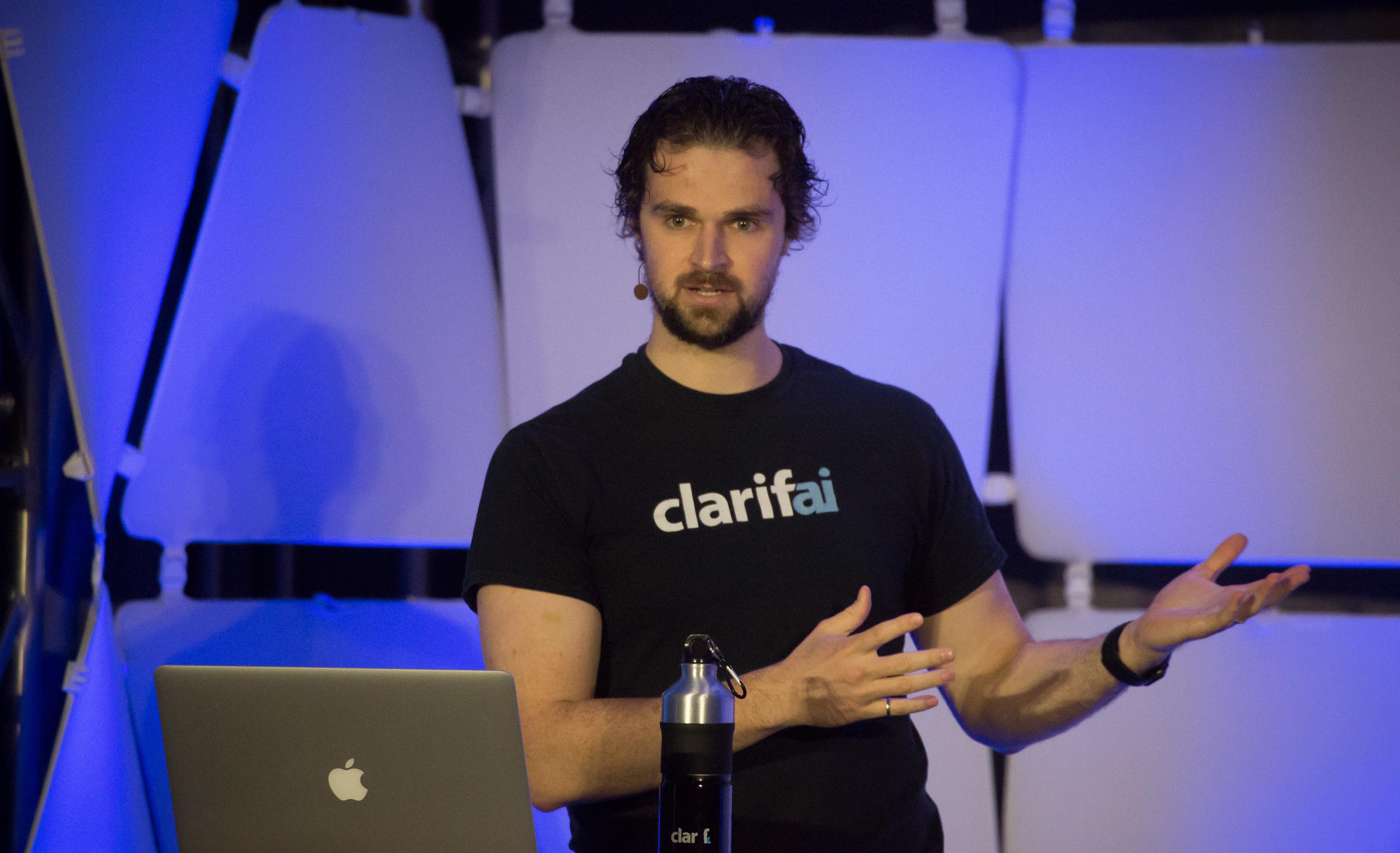 Clarifai CEO Matthew Zeiler at EmTech Digital 2017 in San Francisco.