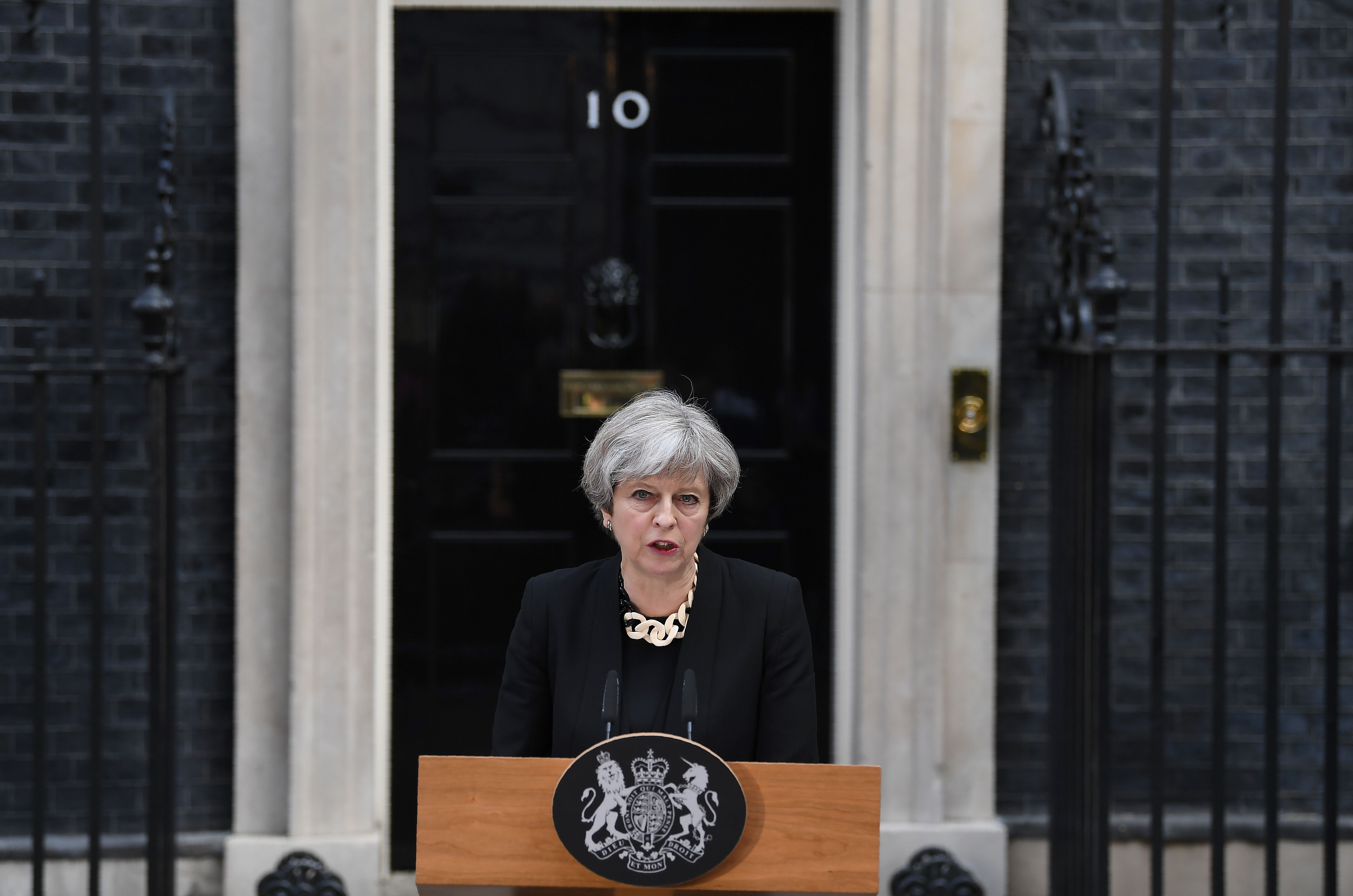 British prime minister Theresa May addressed the country Sunday, the morning after a terrorist attack in London.