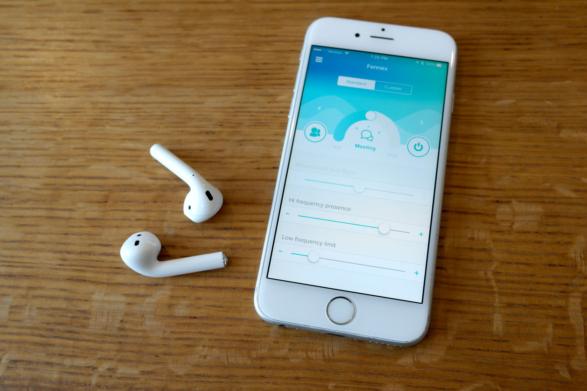 The Fennex app uses Apple's AirPods to work as a personalized wireless amplifier.