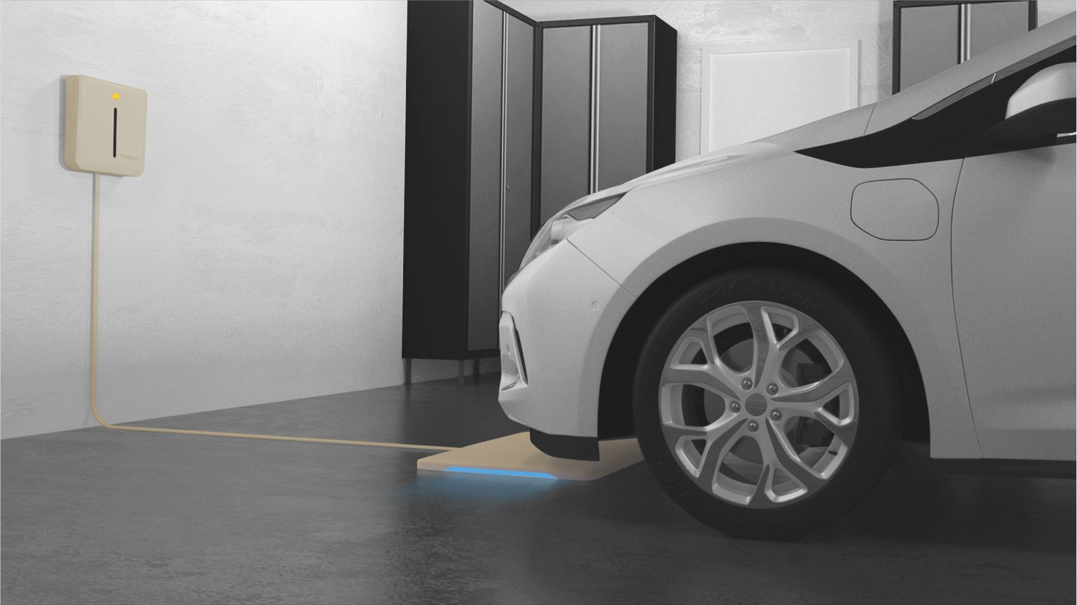 WiTricity's first deployments will be charging systems for home garages and driveways.