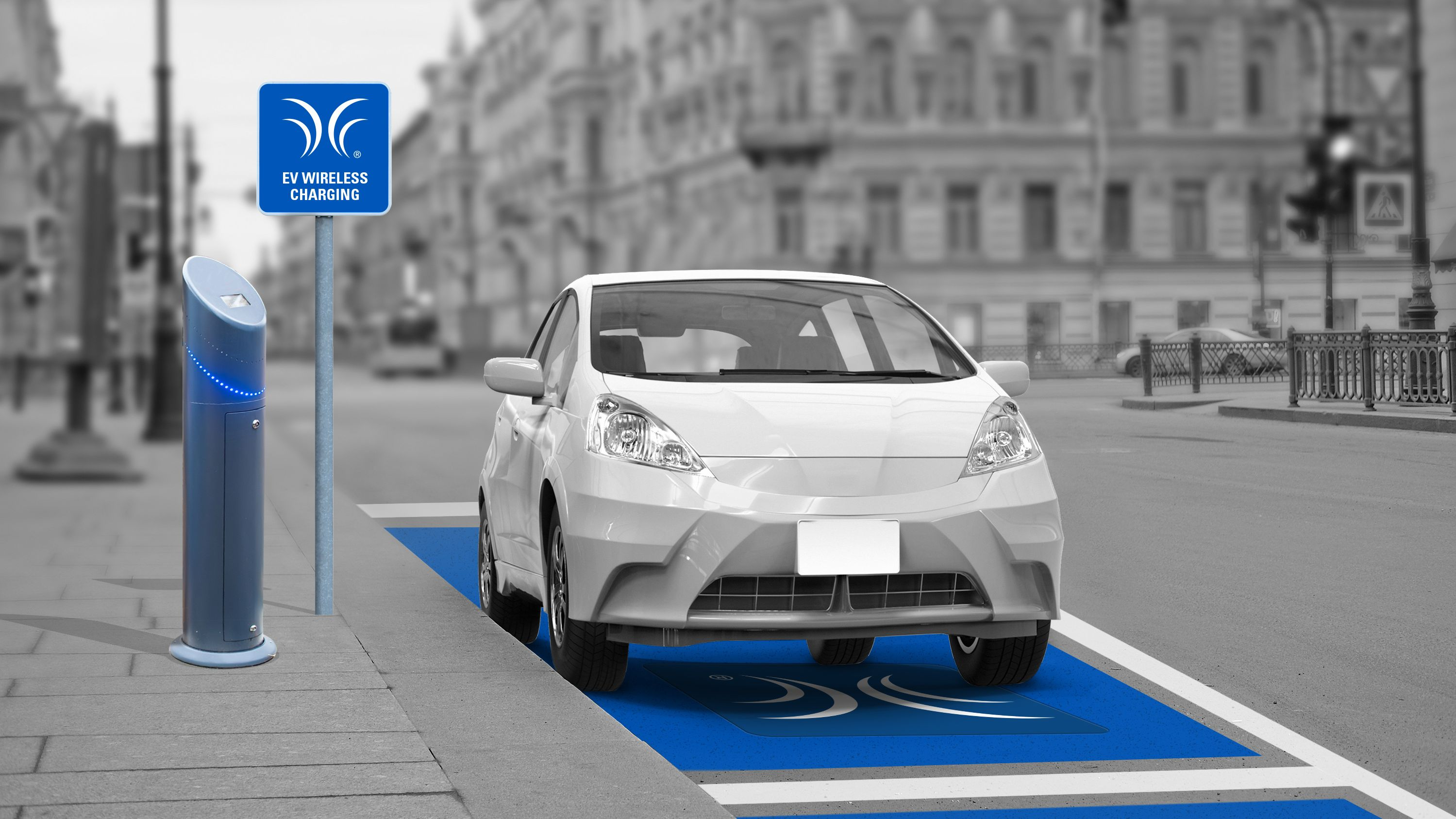 The startup also hopes to power a series of on-street parking spaces.