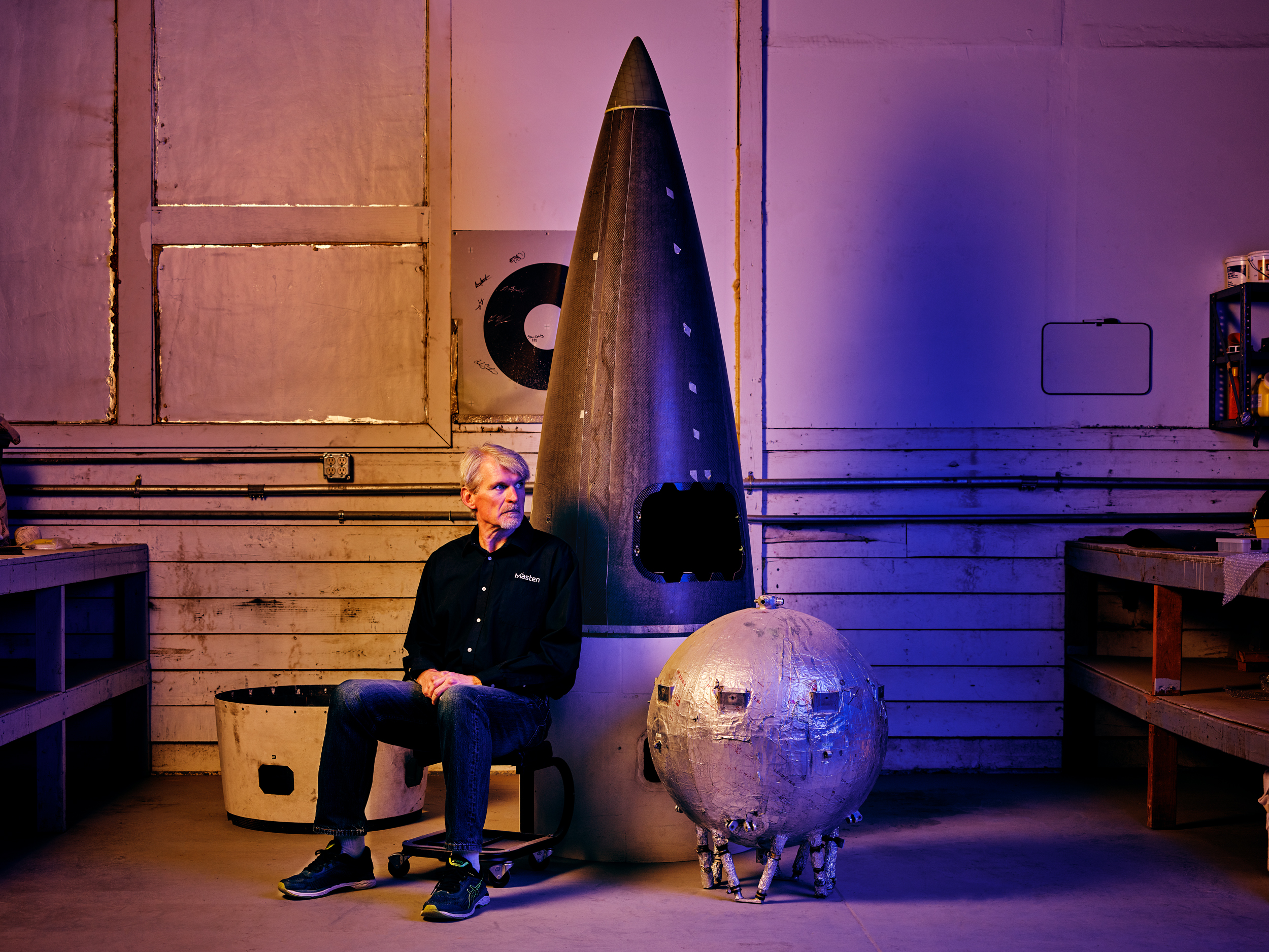 Dave Masten, founder and CTO of Masten Space Systems