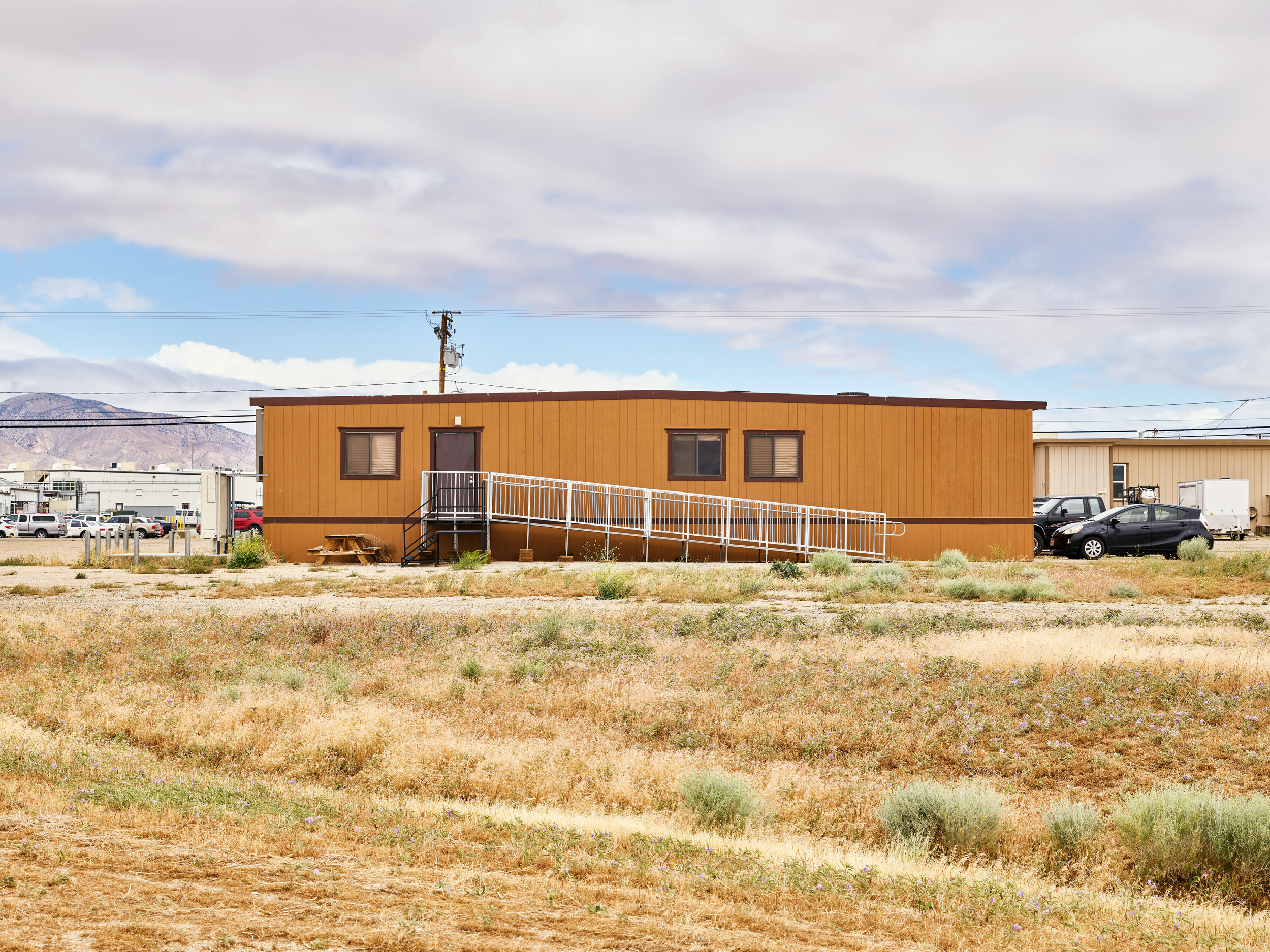 The Masten offices, in a quadruple-wide trailer an hour and a half from LA.
