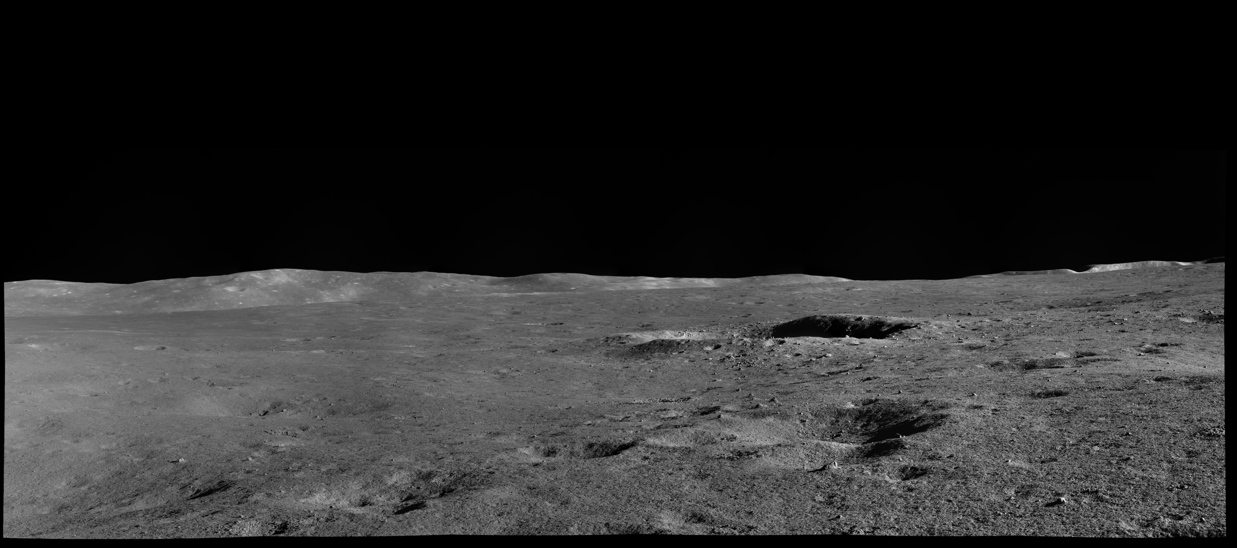 A landscape of the lunar surface, taken by Yutu-2.