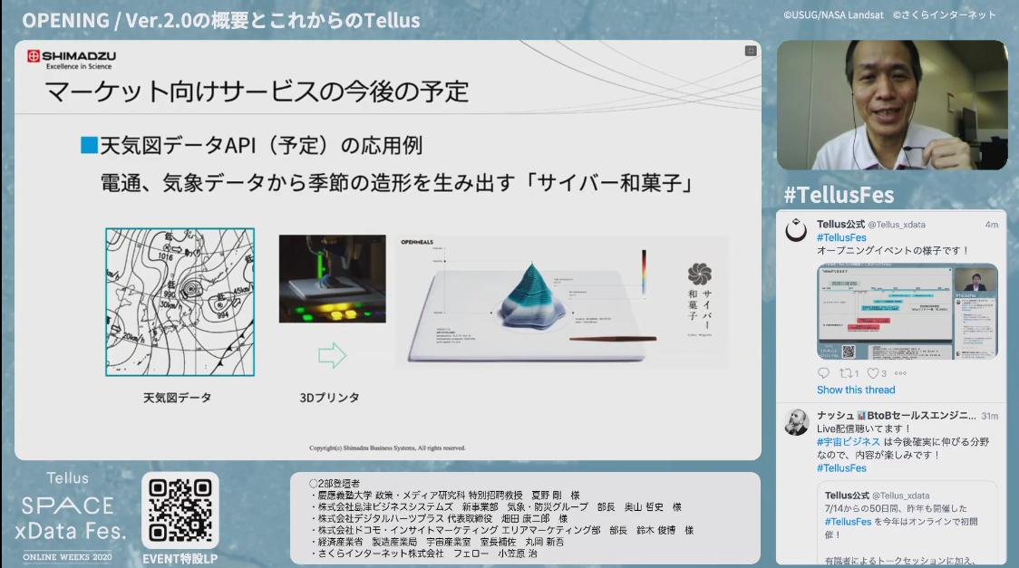 島津ビジネスシステムズがTellusマーケットで提供する予定の「天気図データAPI」